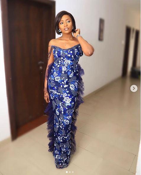 Kiki Osinbajo Is A Beauty In Blue Strapless Gown 2