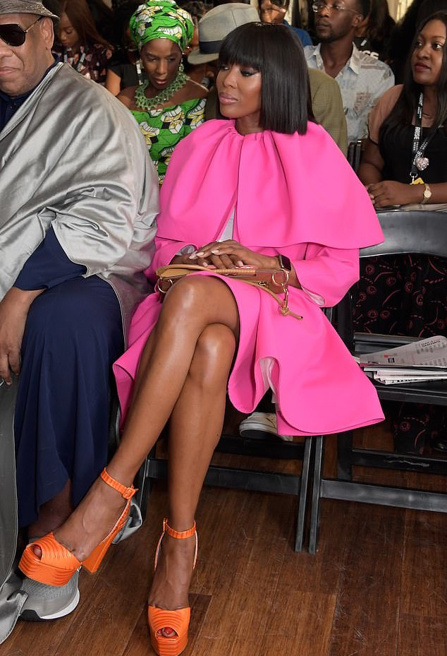 Naomi Campbell Makes A Bold Fashion Statement In Dice Kayek On FROW At Arise Fashion Week 2