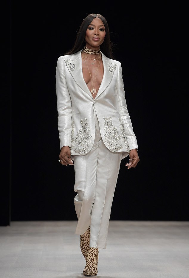 Naomi Campbell Makes A Bold Fashion Statement In Dice Kayek On FROW At Arise Fashion Week 1
