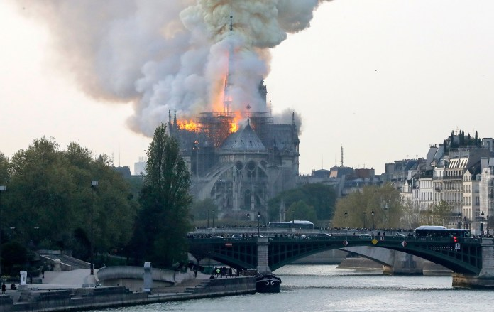 Fires Outbreak Guts Notre-Dame Cathedral In Paris 3