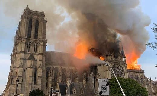 Fires Outbreak Guts Notre-Dame Cathedral In Paris 2