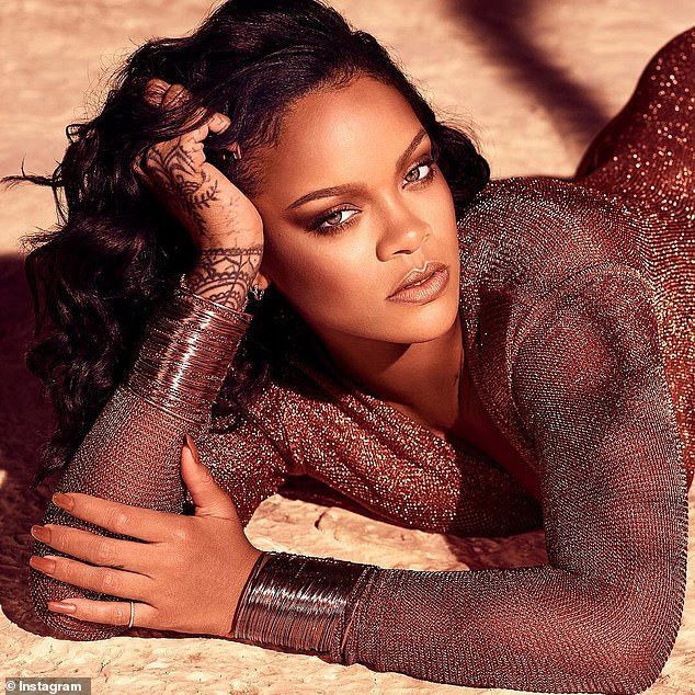 Hawt! Rihanna Drips In Bronze As She Puts Banging Body In A Low Cut Leotard 1