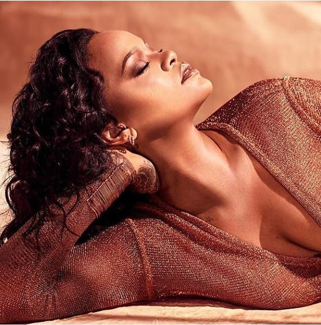 Hawt! Rihanna Drips In Bronze As She Puts Banging Body In A Low Cut Leotard 2