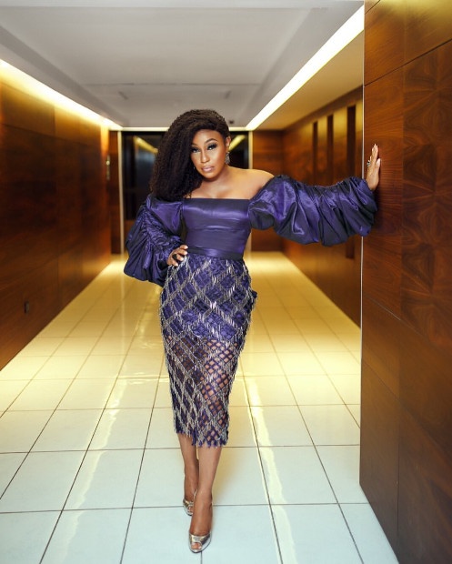 Rita Dominic Is The Stunning Queen In A Classy Blue Tiffany Amber Outfit 2