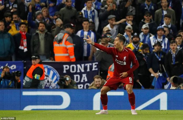 UCL: Liverpool 2 Porto 0; Naby Keita And Roberto Firmino Scores To Give The Kops Advantage 2