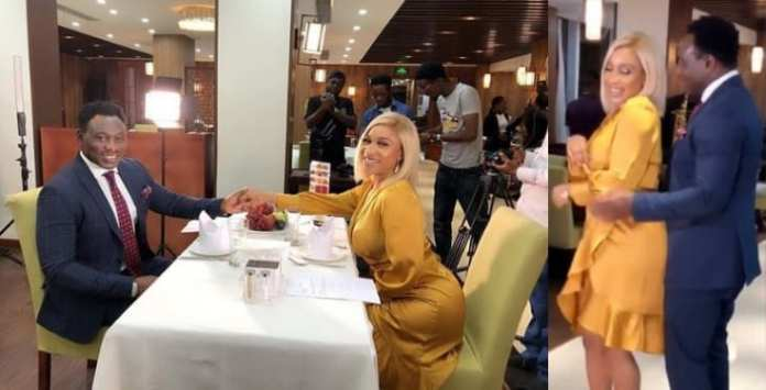 Love Is In The Air! Tonto Dikeh Goes On A Romantic Dinner Date With Daniel Amokachi 1