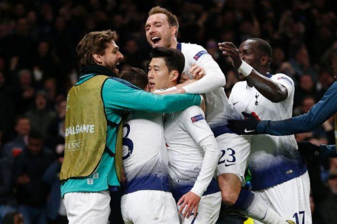 UCL: Tottenham Hotspur 1 Manchester City 0; Son Gives Spurs Advantage 2