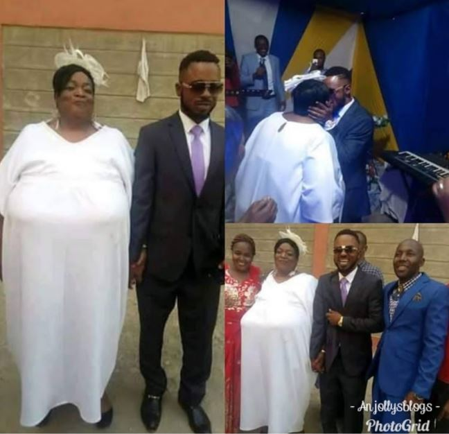 Wedding Pictures Of A Young Man And His Older Wife Goes Viral...Must See 1