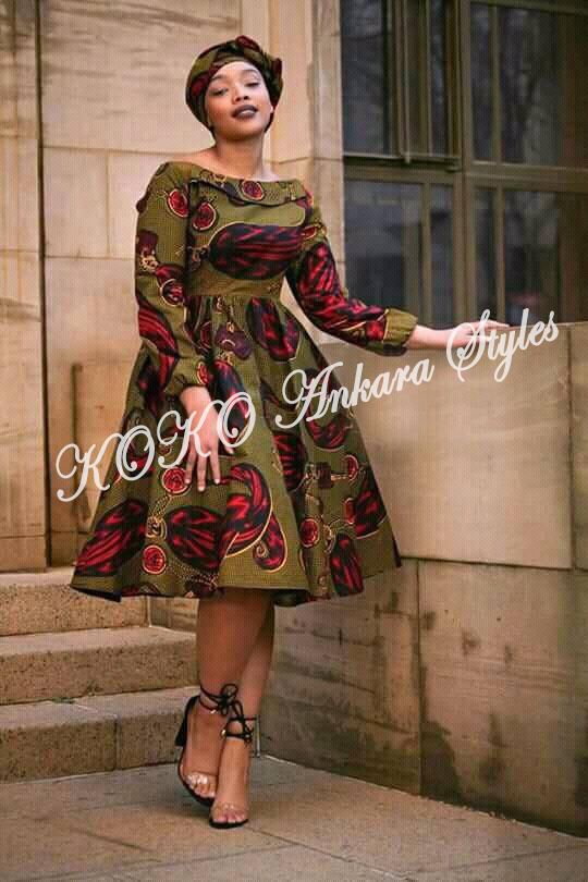 Ten Ankara Styles That Proves That Skater Dresses Are Still As Cool As Ever 9