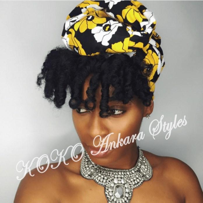 Ankara Styles: Five Eccentric Ankara Headwraps That Are Fashionable And Chic 5