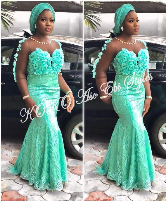 Five Sea-green Aso-ebi Styles That Are Too Gorgeous To Ignore 5