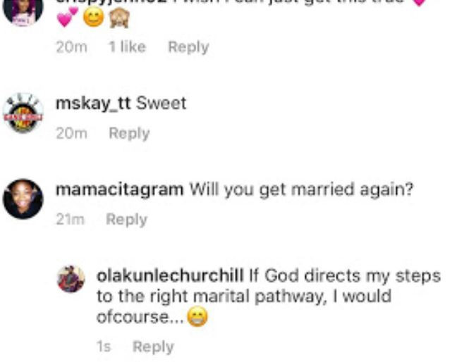 Thank You, Next! Olakunle Churchill Says He Won't Mind Marrying Again 3