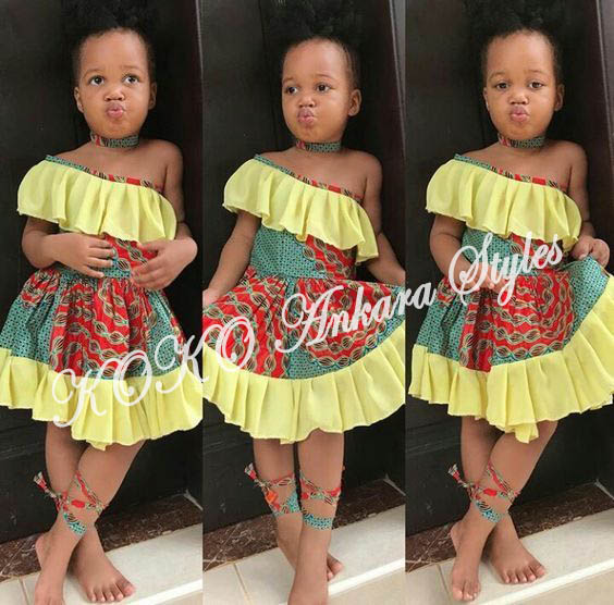 Kiddies Special: Ten Absolutely Adorable Ankara Styles Your Kids Will Look Amazing In! 10