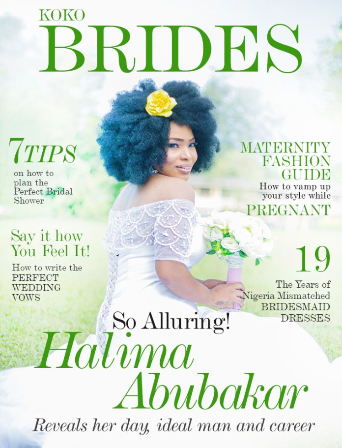 Nollywood Actress Halima Abubakar Stuns With Her Natural Hair As She Covers KOKO Brides Magazine 1