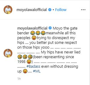 Moyo The Gate Bender! Actress Moyo Lawal Left Red-faced After Photoshopping Fail 3