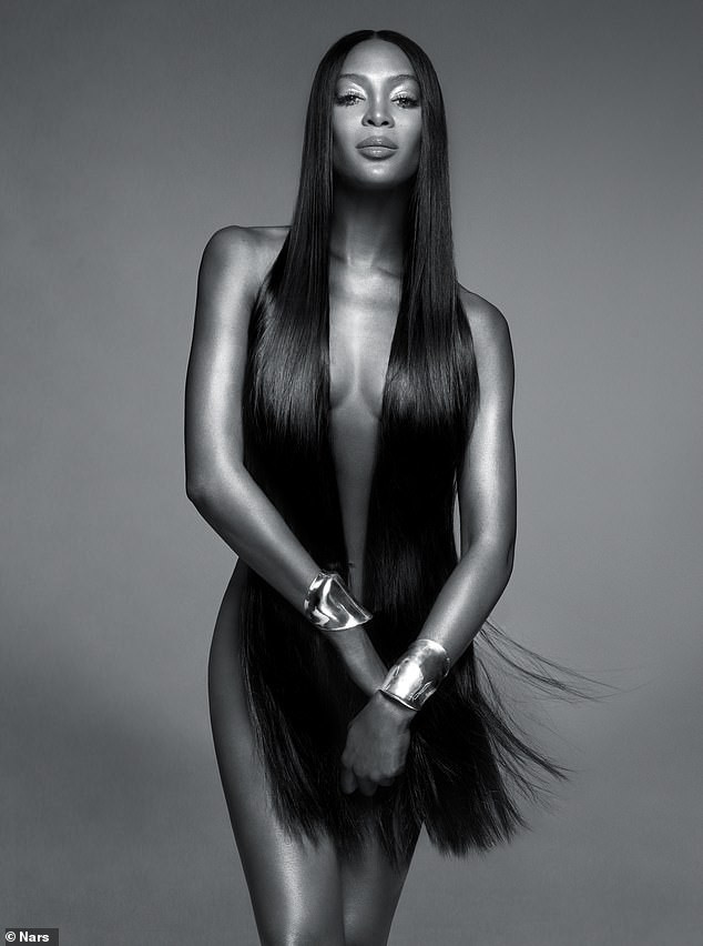 Naomi Does It Again! Supermodel Campbell Goes Completely Nude For New NARS Beauty Campaign 2