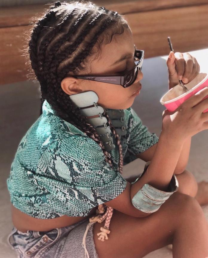 KOKOista In The Making! Check Out The Moment North West Tried Replicating One Of Kim's Fashion Statement 2