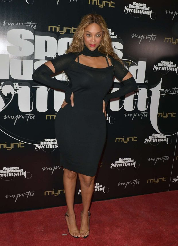 Supermodel Tyra Banks, 45, Dazzles In Figure-hugging Black Dress At Sports Illustrated Swimsuit Issue 2019 Launch 2