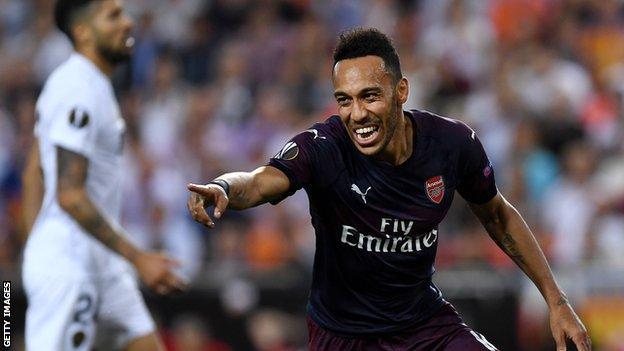 Valencia 2 Arsenal 4 (Agg 3-7): Aubameyang's Hat-trick Takes Gunners To Europa League Final 1