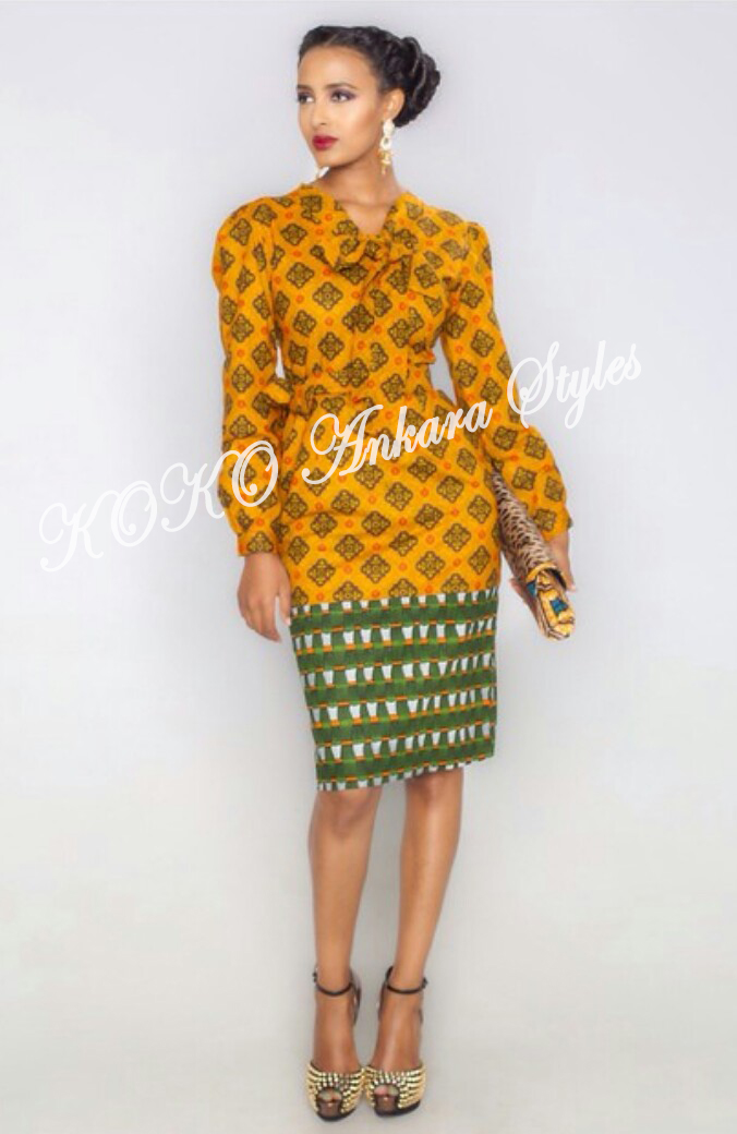 Weekday Glam! Five Ankara Styles You Can Rock To Work 5