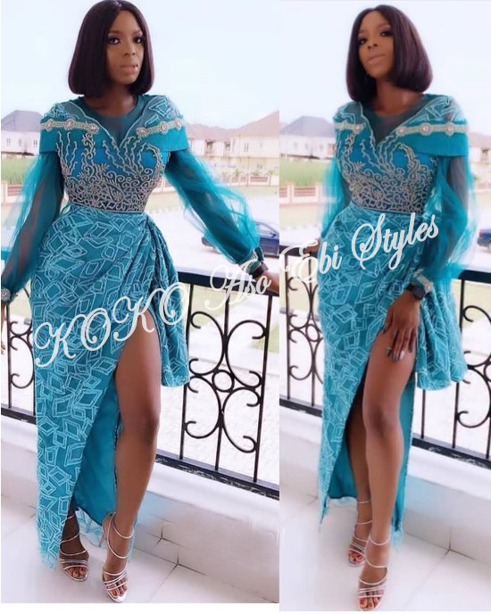Slit Slay! Stun Gorgeously In These Five Aso-ebi Designs With Awesome Slits 4