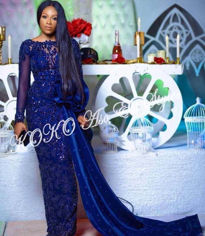 It's All About The Drapes! Five Super Stylish Aso-ebi Styles With Fantastic Drapes 4