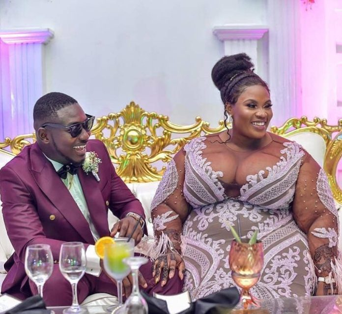 Check Out The Sweet Reactions That Trailed This Nigerian Man And His BBW Wife's Wedding 3