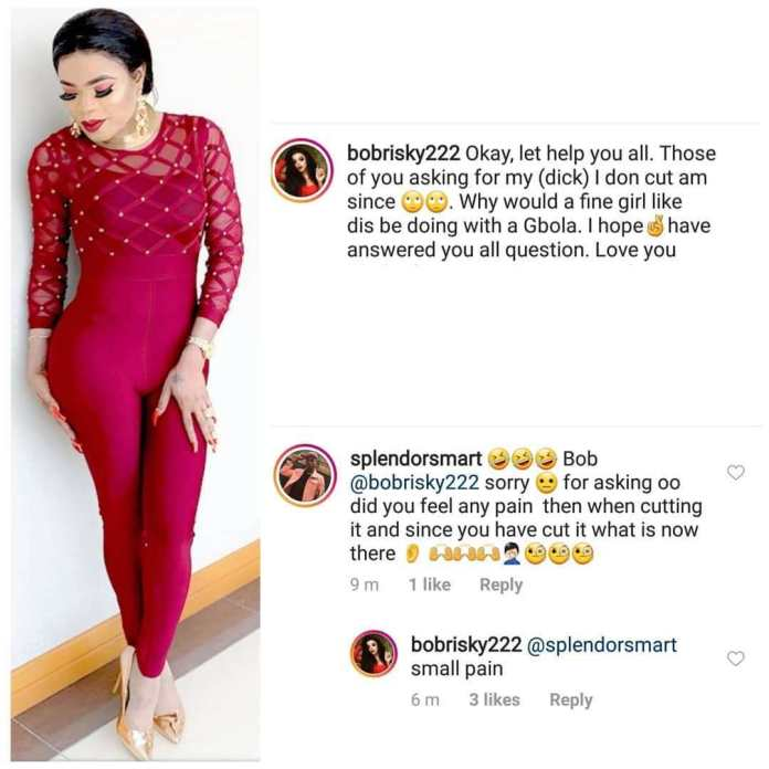 'What Will A Fine Girl Like Me Be Doing With A Gbola'- Bobrisky Reveals He Removed His Manhood 1