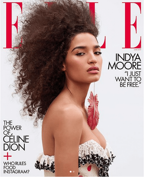 Trangender Model, Indya Moore Covers ELLE Magazine's May Issue 6