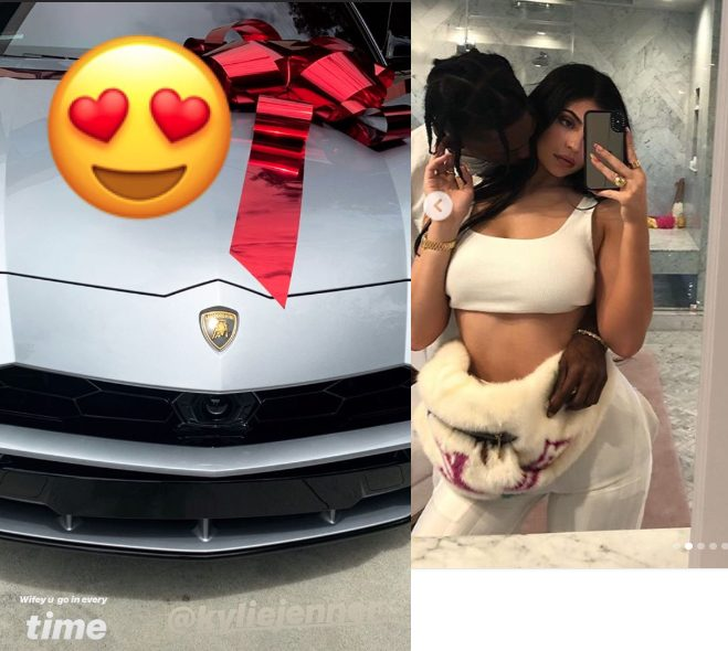 Love On The Brain! Kylie Jenner Gifts Travis Scott A New Lamborghini For His Birthday 2
