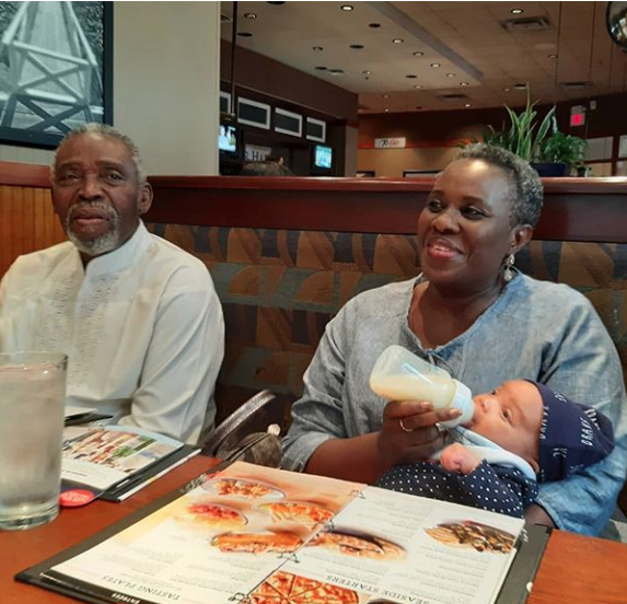 Joke Silva And Olu Jacobs Are The Adorable Grandparents As They Bottle-feed Their Grand Daughter 3