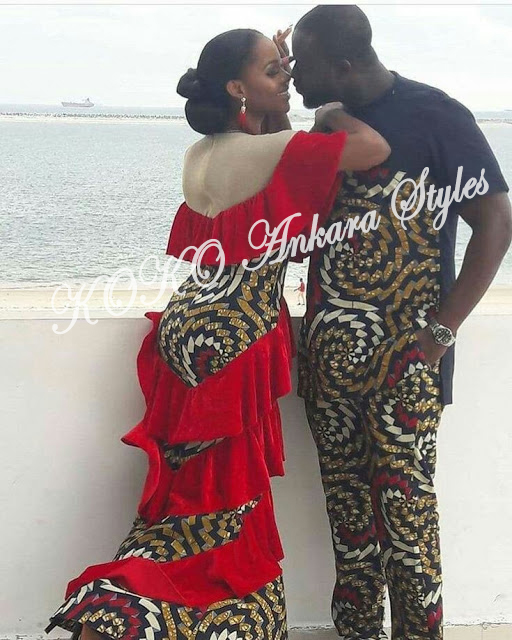 Ankara Styles: Fire Up With Boo In These 6 Intriguing Couple Ankara Styles.