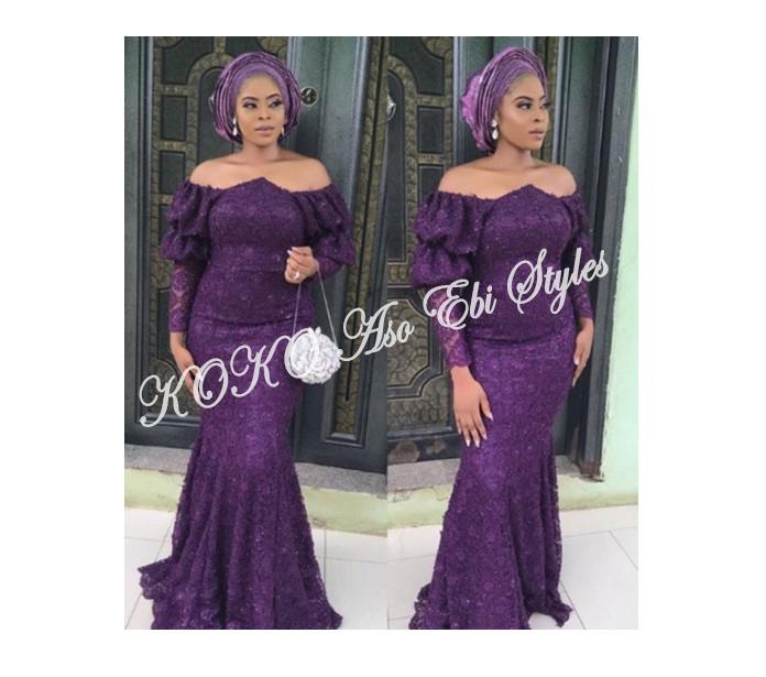 Aso Ebi Styles 2019 Purple