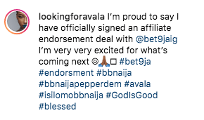 Bet9ja Endorses Avala, Isilomo