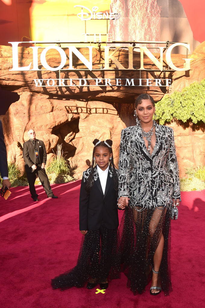Beyonce and Blue Ivy at the World Premiere of The Lion King