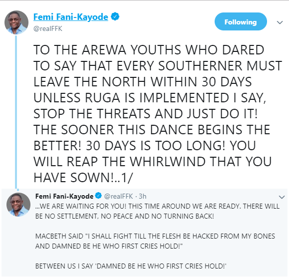 'You Will Reap The Whirlwind That You Have Sown'- FFK Blows Hot At Coalition Of Northern Group 2