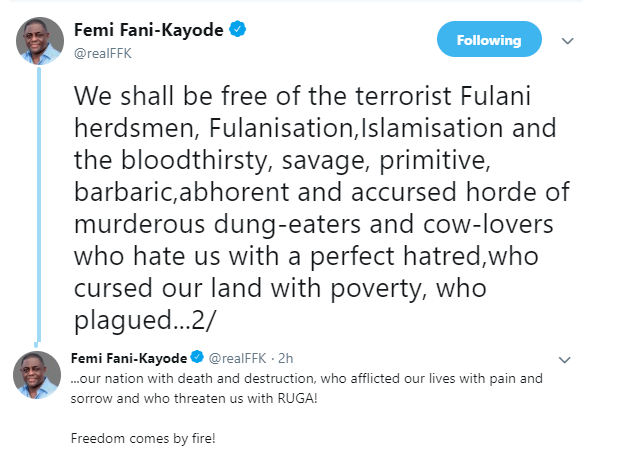 'You Will Reap The Whirlwind That You Have Sown'- FFK Blows Hot At Coalition Of Northern Group 3