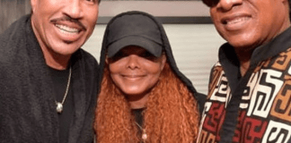 Janet Jackson Spotted With Stevie Wonder and Lionel Richie