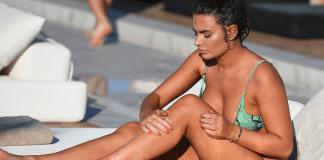 Megan Barton Hanson Shows Off Curves In Snakeskin Bikini