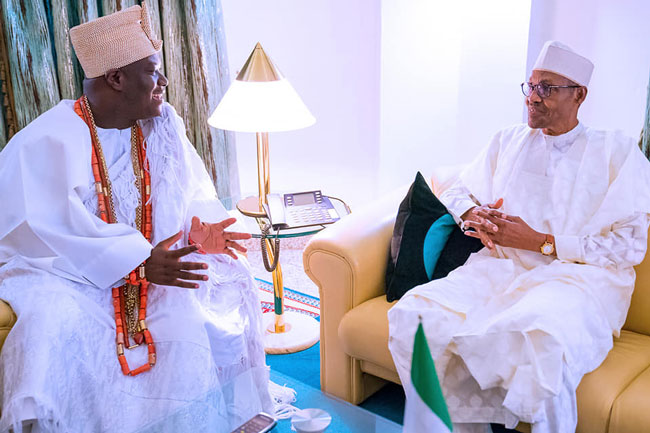 Ooni of Ife meets Buhari on Insecurity