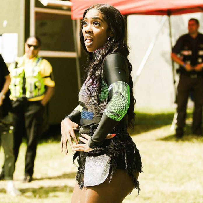 'I'm So Cheeky'- Tiwa Savage Set Pulses Racing With Her Ripped Bum Shorts At The Wireless Festival 1
