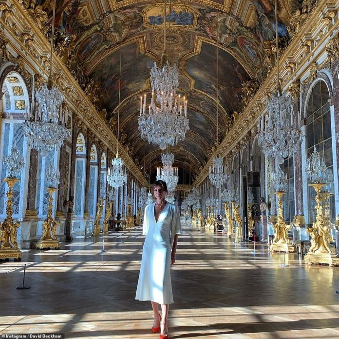 Victoria Beckham Tours Palace Of Versailles In A White Midi-dress As She Celebrates 20 Years Wedding Anniversary With Hubby, David Beckham 2