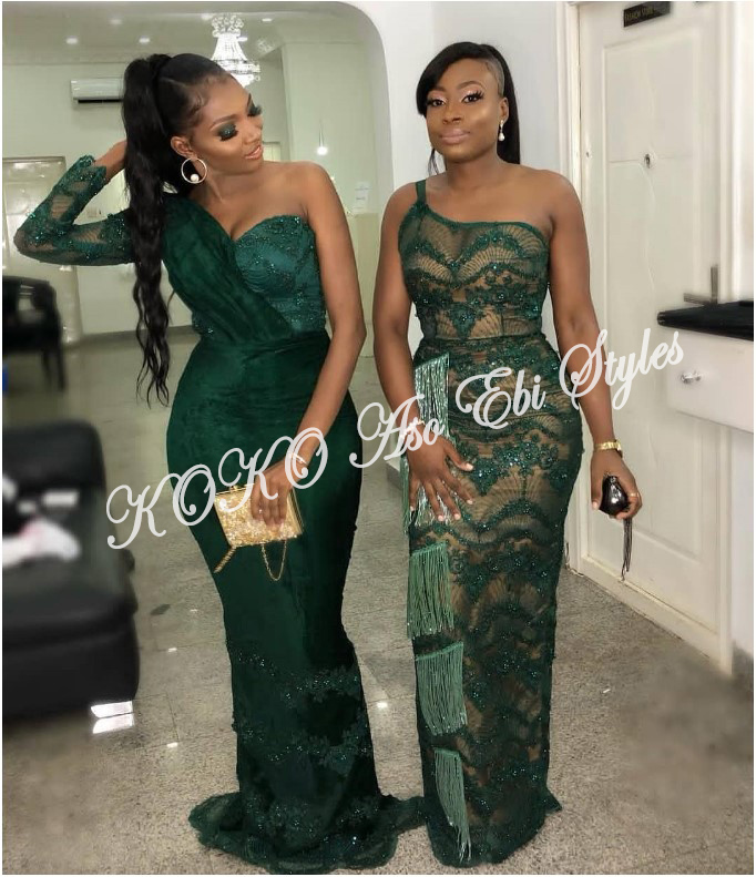 Bring On The Stunning In Lovely Green Aso-ebi Designs At Your Next Owanbe 13