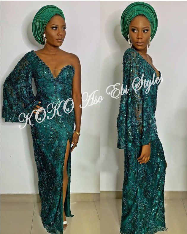 Bring On The Stunning In Lovely Green Aso-ebi Designs At Your Next Owanbe 2