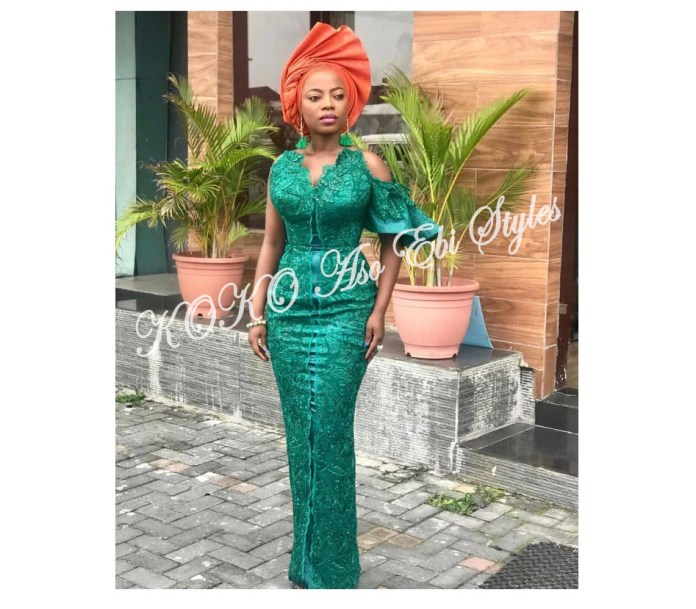 Bring On The Stunning In Lovely Green Aso-ebi Designs At Your Next Owanbe 4