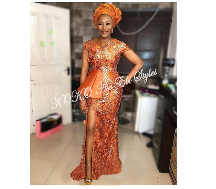Stunning! Be The Center Of Attraction At Your Next Owanbe In These Latest Hot Aso-ebi Styles 4