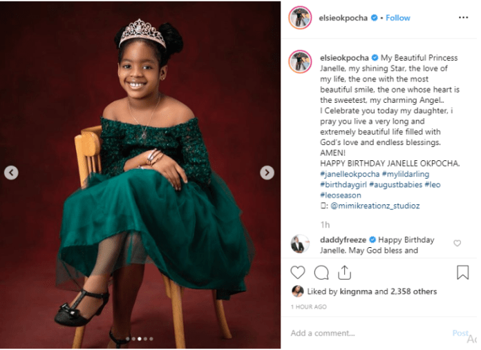 KOKO Junior: Basketmouth's Daughter, Janelle Is Such An Angel As She Clocks 8 1