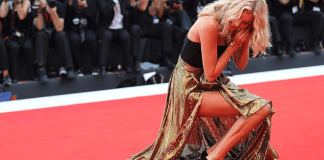Oops! Elsa Hosk Suffers Wardrobe Malfunction On 2019 Venice Film Festival Red Carpet