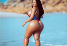 Meal Or Snack? Moesha Boduong Parade Curves In Colourful Bikini