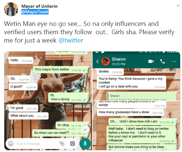 Twitter User Shares How He Was Turned Down By A Lady Because Of His Twitter Account
